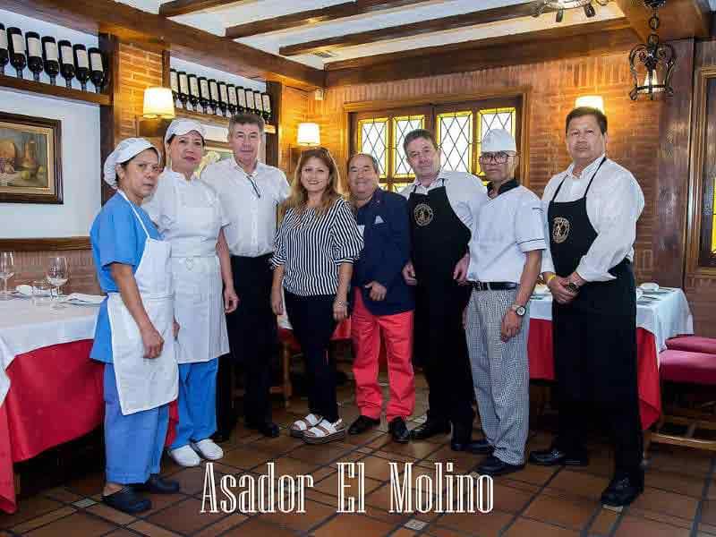 Equipo del Restaurante Asador El Molino Madrid Plaza de Castilla