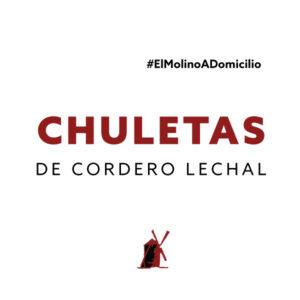 Chuletas de cordero lechal para recoger y a domicilio Madrid   Restaurante Asador El Molino