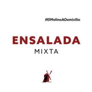Ensalada mixta para recoger y a domicilio Madrid | Restaurante Asador El Molino